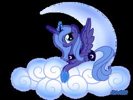 Princess Luna on Cloud number9 by mlpAzureGlow