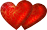 Two hearts gold red small 30 by EXOstock
