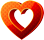 Heart 3D 40px by EXOstock
