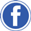 Facebook icon flat round 45px by EXOstock