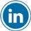 Linkedin icon flat round 45px by EXOstock
