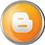 Blogger icon volumetric round 45px by EXOstock