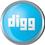 Digg 2 icon volumetric round 45px by EXOstock