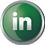 Linkedin icon volumetric round 45px by EXOstock