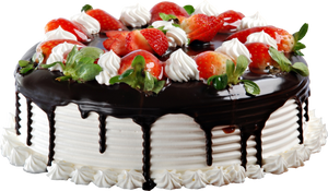 Strawberry cake with chocolate2  Clipart 7000x4000 by EXOstock