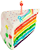 Rainbow cake 50px