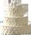 White roses cake 50px