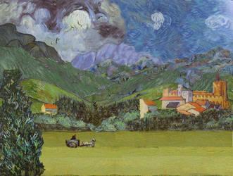 Jungfrau - Homage To Van Gogh by OrionShipworks