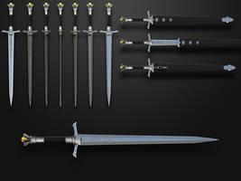 Sword of Sun soldier by Kriegerman