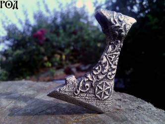 Axe of Perun finished work 2 by Kriegerman