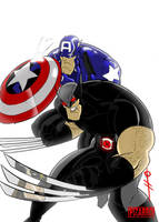 XForce Wolvie and BuckyCap by TheBoo