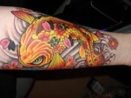 Koi Tattoo by silverchairmodern2