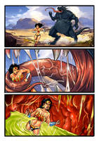 Vore: Wonder Woman Swallowed Whole Fan Comic by zetaxinn
