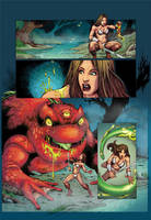 Tyris Flare vs Giant 3-Eyed Toad by zetaxinn