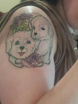 Dog tattoo by Rachrabbidd