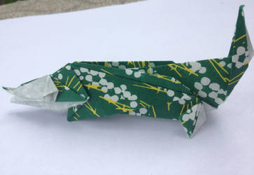 Origami Alligator by dnaexmosn