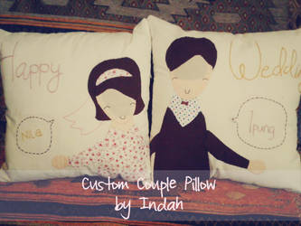 Happy Wedding Pillow by heppieyippie