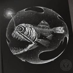 Angler Fish Skeleton by DeadInsideGraphics