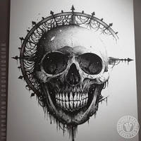 The Moon Skull by DeadInsideGraphics
