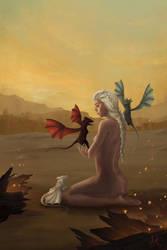 Daenerys the Unburnt by deannaque