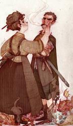 Lady Sybil and Sir Samuel Vimes by s-u-w-i