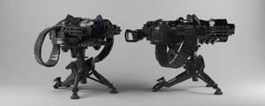 Machine Gun by dentonvanzan