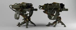 Machine Gun Launcher. by dentonvanzan