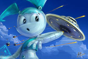 Jenny and UFO by 14-bis