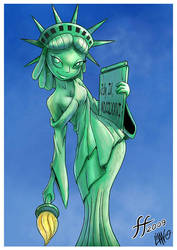 Lady Liberty by 14-bis