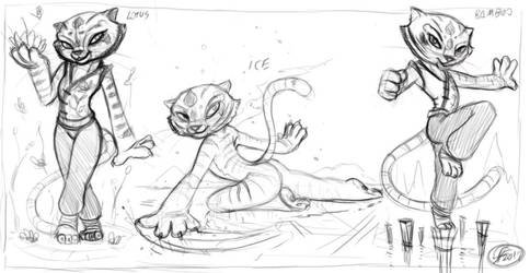 Tigress sketches by 14-bis