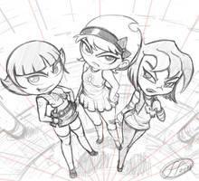 3 Bad Girls sketch by 14-bis