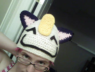 meowth hat by Pok3mon-fan-club
