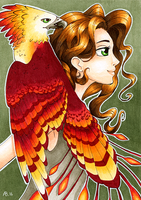 Girl and The Phoenix by Willow141
