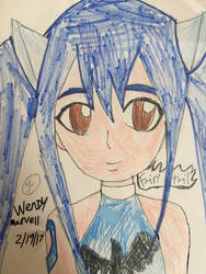 Fairy tail Wendy Marvell  by Bluedragoncartoon