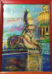 Sphinx on the Universitetskaya embankment by Le-ARi