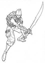 Ninja assault by DanNortonArt