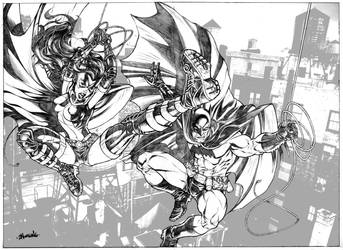 Huntress and Batman by DanNortonArt