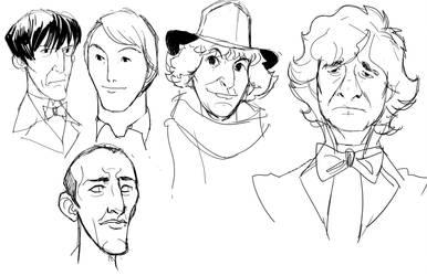 Dr faces 1 by DanNortonArt