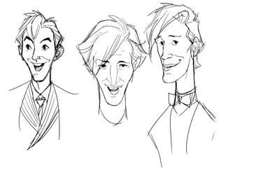 Dr faces 3 by DanNortonArt