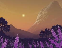 Lavender field by DanNortonArt