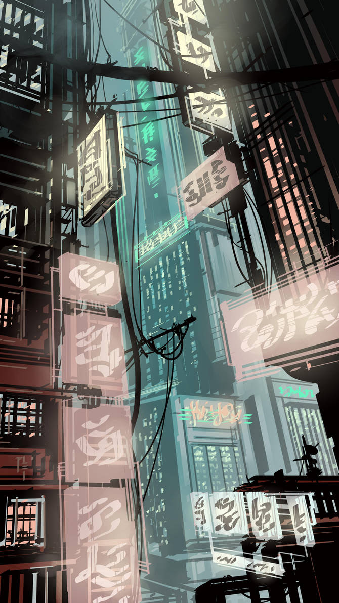 Red light district by DanNortonArt