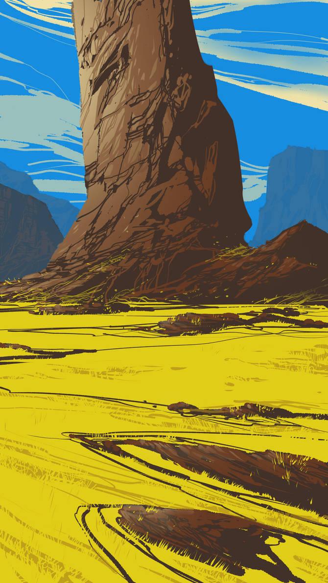 Plain field by DanNortonArt