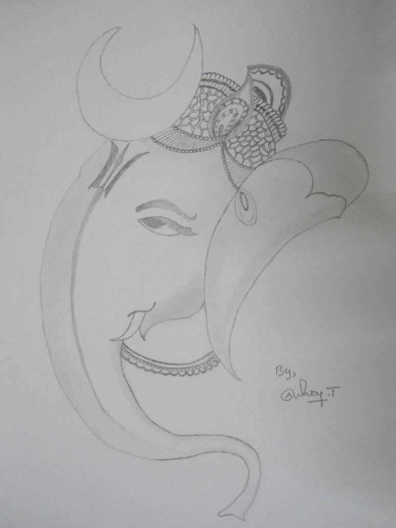Lord ganesha sketch ganapathi pencil drawings by selvantamilmani