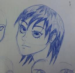 Manga girl doodle #1 by Multiversaldrawings