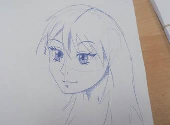 Manga girl doodle #2 by Multiversaldrawings