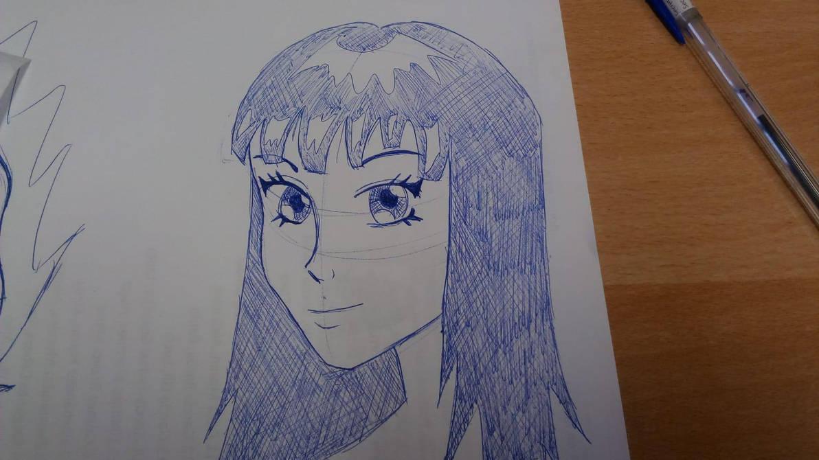 Manga girl doodle #3 by Multiversaldrawings