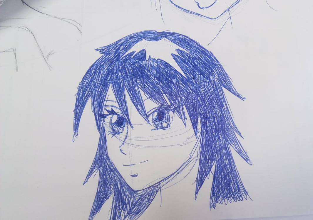 Manga girl doodle #4 by Multiversaldrawings