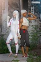 Shiro and Karako 3 by MikuLeRoux