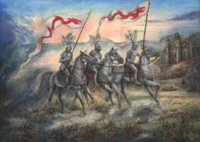 The Fellowship of Red Dragons by fraktalika