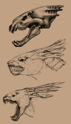 OLD SKETCH: Creature Head Design by AA-art23